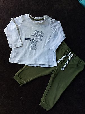 Baby Boy Outfit Set Tracksuit Pants - Size 0