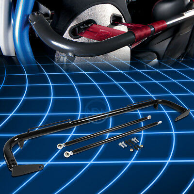 """49""""Universal Racing Seat Belt Harness Bar Adjustable Chassis Support Rod Black"""