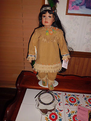 "Kelly Rubert  Paradise Galleries 21"" tall Dancing Dove native American w/coa"