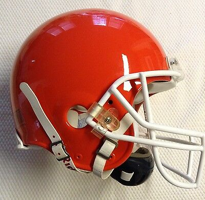 2000 Cleveland Browns Game Used Riddell Football Helmet - Rare Painted Stripes
