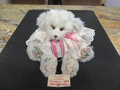 """Vintage Joan Woessner Mohair Bear """"Anna Berry"""" 1991 Signed & Dated Hang Tag 14"""""""