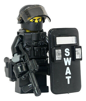 Swat Team Police Squad V1 Minifigures made with real LEGO minifigure parts R