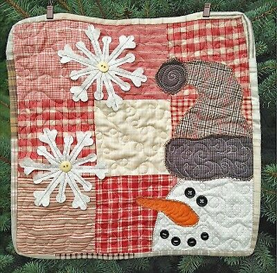 CHARMING SNOWMAN QUILT PATTERN, From Cut Loose Press Patterns NEW