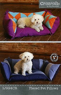PIECED PET PILLOWS SEWING PATTERN, From Indygo Junction NEW