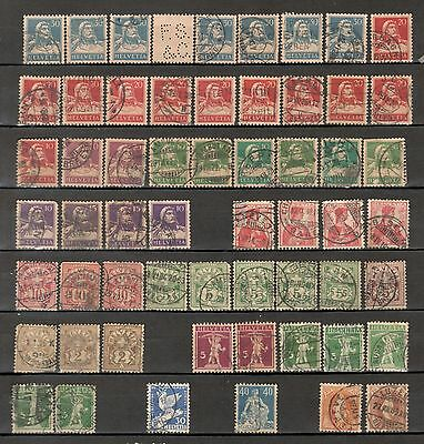 Switzerland, lot of variety used stamps
