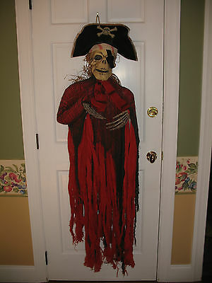 """Large 55"""" red black Pirate skeleton torso Halloween party Prop Super cool! Scary"""