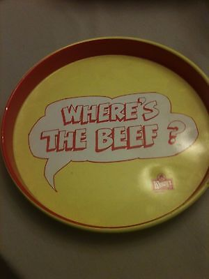 "1984 Wendy's ""Where's the Beef?"" 14"" Round Tin Serving Tray"