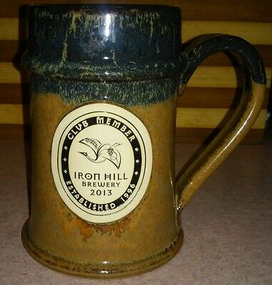 Club Member Mug Cup Iron Hill Brewery 2013 Beer Stein Authentic Handmade USA