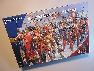 Perry Miniatures WR01 Wars of the Roses Infantry 1455-1487 - PLASTIC BOX SET