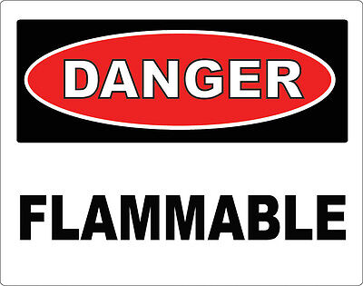 "DANGER - Flammable / Vinyl Decal / Sticker / Safety Label 3.5"" x 5"" Fire Safety"