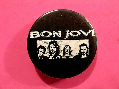 Bon Jovi Vintage Button Badge Pin Uk Import