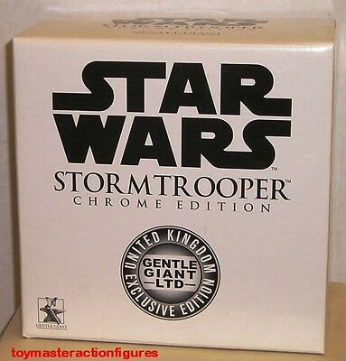 GENTLE GIANT 2004 STAR WARS (ANH) STORMTROOPER CHROME EDITION MINI BUST In Stock