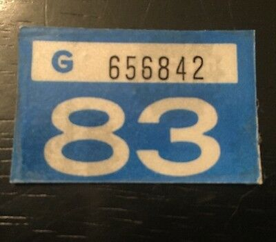 Original 1983 Washington Motor Vehicle License Plate Tag. Same For Car And Truck