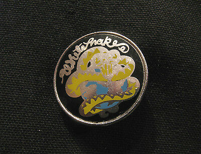 Whitesnake Vintage Enamel Pin Button Badge Uk Import