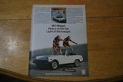 MG Midget Automobile 1978 Playboy Magazine ad - Excellent