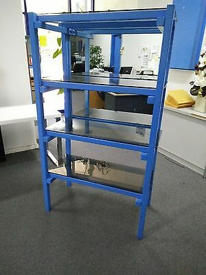 Display Storage unit with glass shelves and mirrored back
