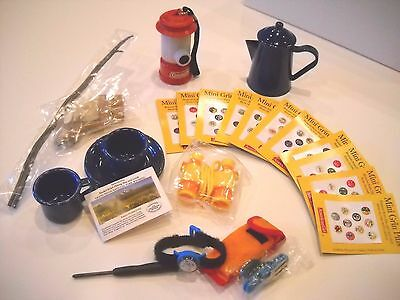 NEW American Girl Doll CAMPING UTENSILS & ORIENTEERING Accessory Rare + Grin PIn