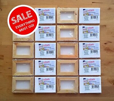 Mini Canvas Mont Marte x 20 Craft Painting Kids Fun