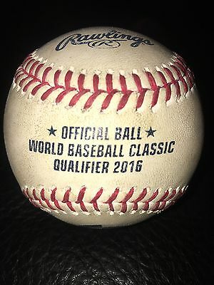 Donald Lutz Autograph Game Used 2016 World Baseball Classic Qualifier Ball Reds