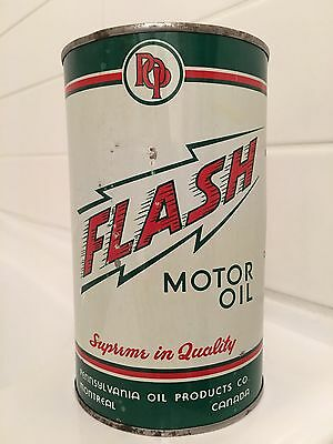 FULL Flash Motor Oil Imperial Quart Can. Montreal