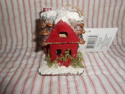 Ashland Putz Country Snow Covered House-NWT
