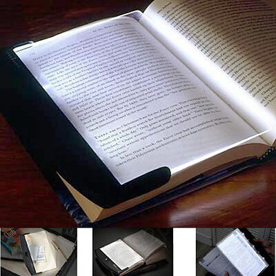 Night Vision Light LED Reading Book Flat Plate Portable Travel Panel Lamp New