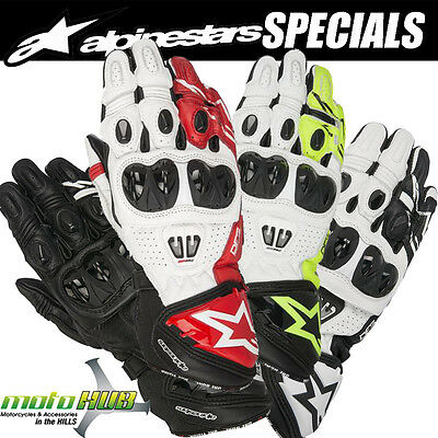 Alpinestars 17 GP Pro R2 Motorcycle Leather Gloves Road Bike Racing Riding Track