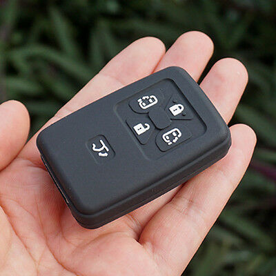 Black key fob silicone cover for Toyota Noah Voxy Corolla Yaris Estima 5 Buttons