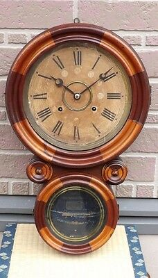 Wall clock Ingraham parquetry over 100 years ago FS Japan