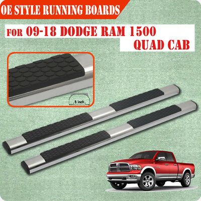 "Fit 09-17 Dodge Ram 1500 Quad Cab 5"" Running Board Nerf Bar Side Step S/S DA"