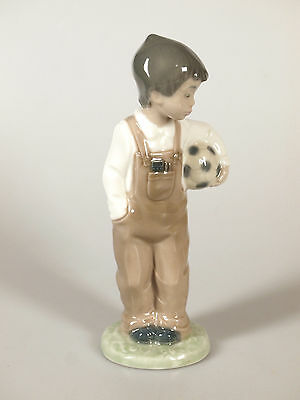 Nao by Lladro Ready To Play Football Boy Ornament