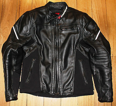 "Mens Dainese Cage Leather Motorcycle Motorbike Riding Jacket Size 46"" RRP $570"