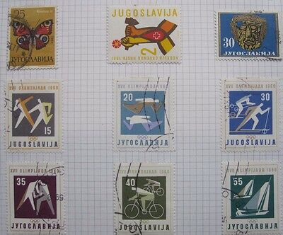 9 Yugoslav Stamps From Old Album