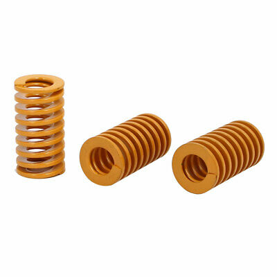16mmx30mmx55mm Light Duty Stamping Compression Mould Die Springs Yellow 3pcs