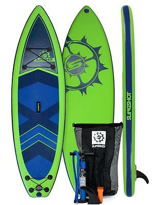 Slingshot 2016 Airtech Crossbreed Inflatable SUP Board 11ft Green/Blue