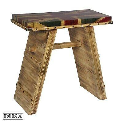 DUSX Vintage Retro Union Jack Boys Room Wooden Stool