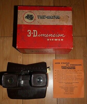 BOXED VINTAGE SAWYER'S VIEW-MASTER VIEWER ORIGINAL 50's MODEL E BAKELITE RETRO