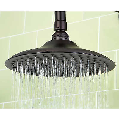 Victorian Antique Rustic Oil Rubbed Bronze Rainfall Rain Bathroom Shower Head