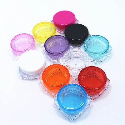 Clear Empty Container Makeup Bottle Cosmetic Cream Jar Pot Face Eyeshadow Colors