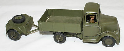 Vintage 1950s Britains Army Lorry With Driver & Trailer No 1334