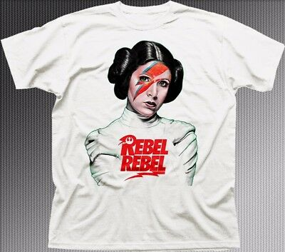 Princess Leia REBEL REBEL Star Wars inspired white cotton t-shirt FN9313