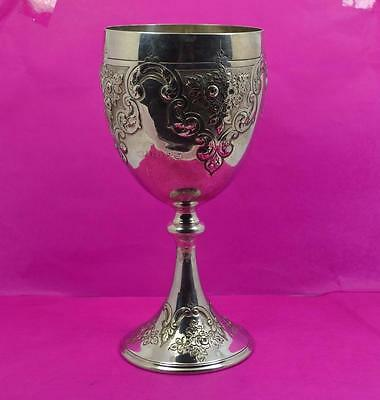fine Victorian silver plated Gothic cup / chalice  19.5 cm.Martin Hall Co 1882
