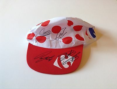 Cap Signed By Cyclists Wiggins, Cavendish, Froome And Porte