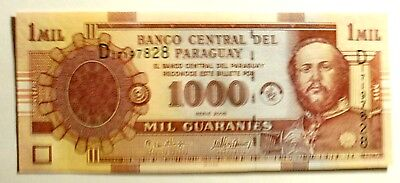 Banknote Paraguay 1000 Guaranies 2005 Issue   Unc Cond.