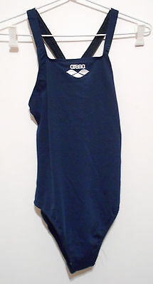 ARENA girls dark blue swimming costume NWT size 16 MALTYX JR. polyester (1A)