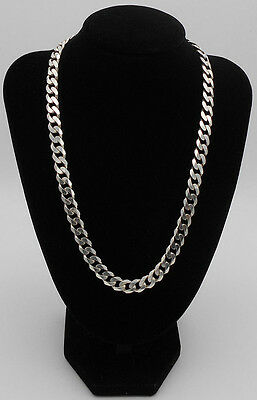 Hallmarked Mens Heavy 64.6 Grams Solid 925 Sterling Silver Curb Chain Boxed