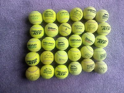 30 x USED TENNIS BALLS Lot Multiple brand ideal for dogs& recreation