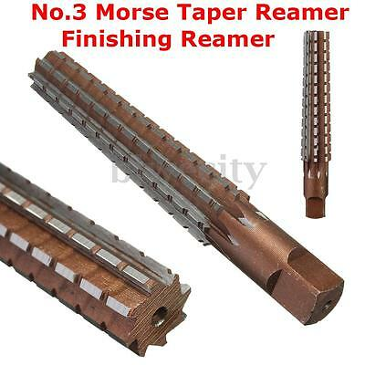 Alloy Steel MT3 No.3 Morse Taper Reamer Finishing Reamer 148 x 16 x 20mm