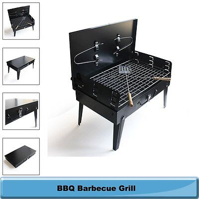 BBQ Barbecue Grill Folding Portable Charcoal Garden Travel Outdoor Camping Party