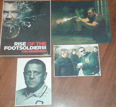 Rise Of The Footsoldier 3. Signed Pictures. Carlton Leach. Gangster. Crime.